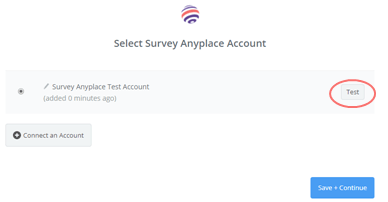 zapier - test account connection