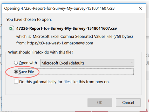 convert CSV to excel save file