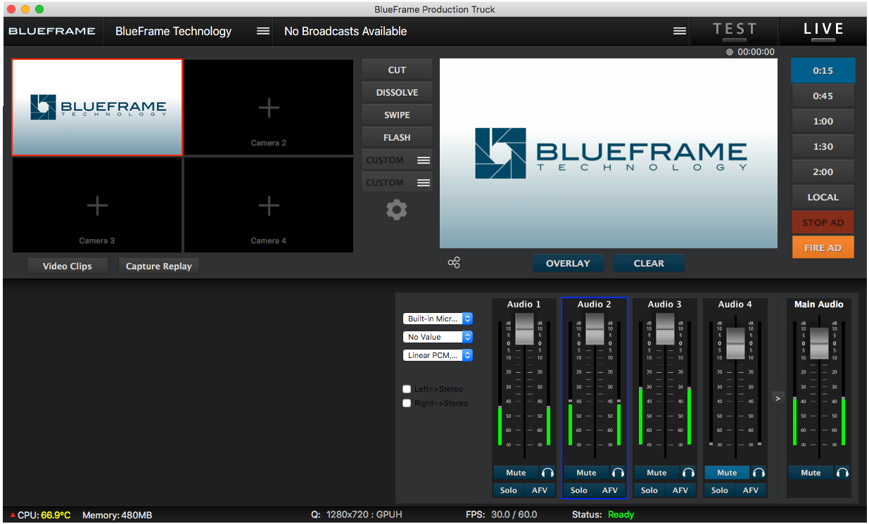 Get started with the new audio mixer in Production Truck