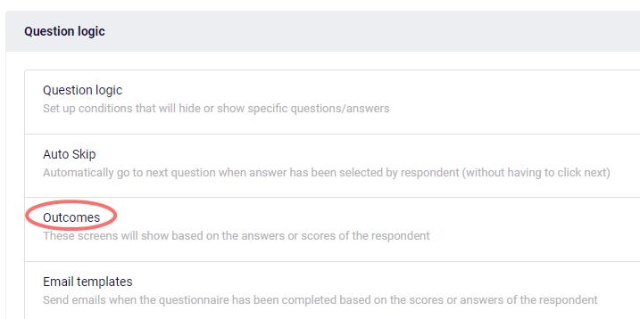 Select outcomes