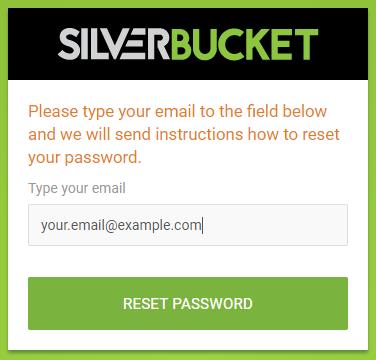 Reset your password screen