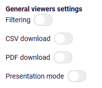 share dashboard general viewer settings