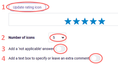 Choose rating icon