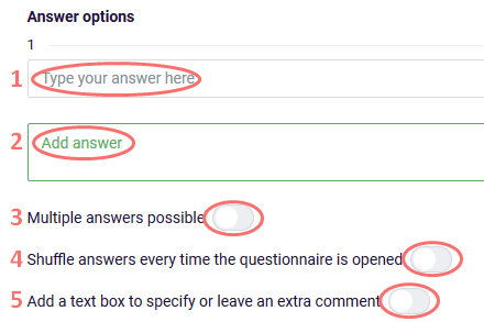 Text choice - add answer options