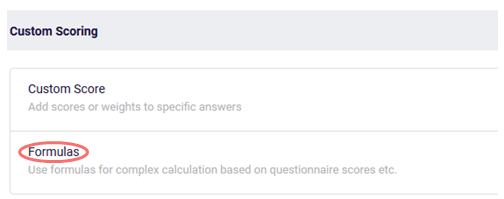 Choose Formulas features