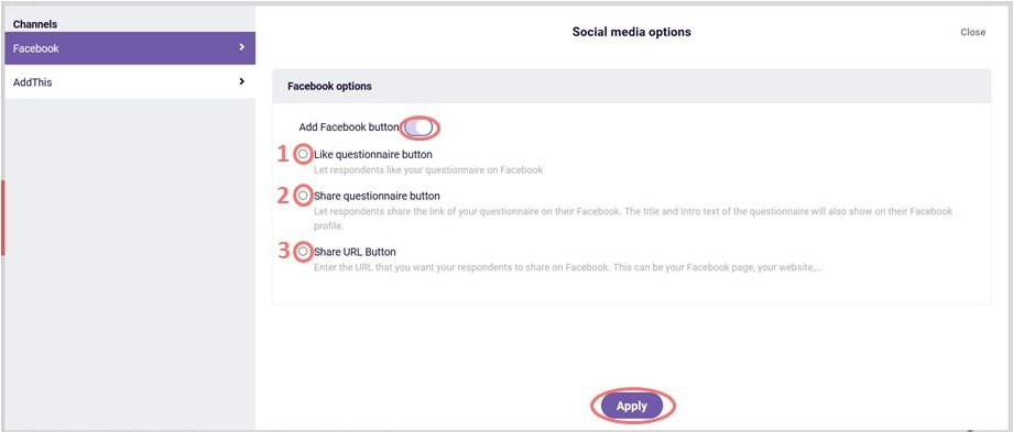 Add facebook button - social media