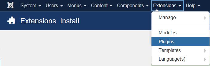 Joomla extensions install