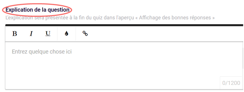 question quiz- explication de la question