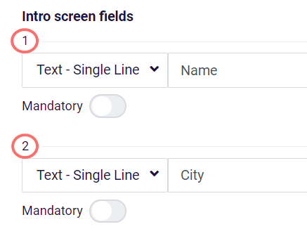 Pre-fill intro fields - example