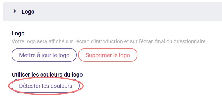 Modifier le design - détecter les couleurs du logo