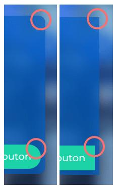 Modifier le design - exemple d'angle arrondis