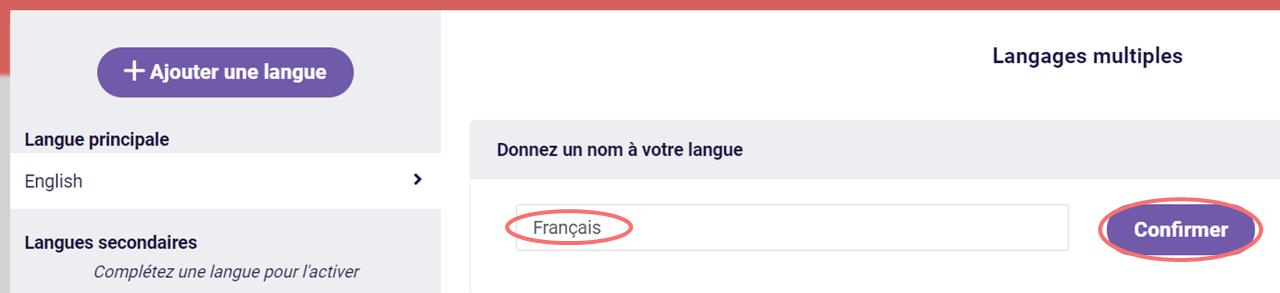 Langages multiples - donnez un nom a votre langue
