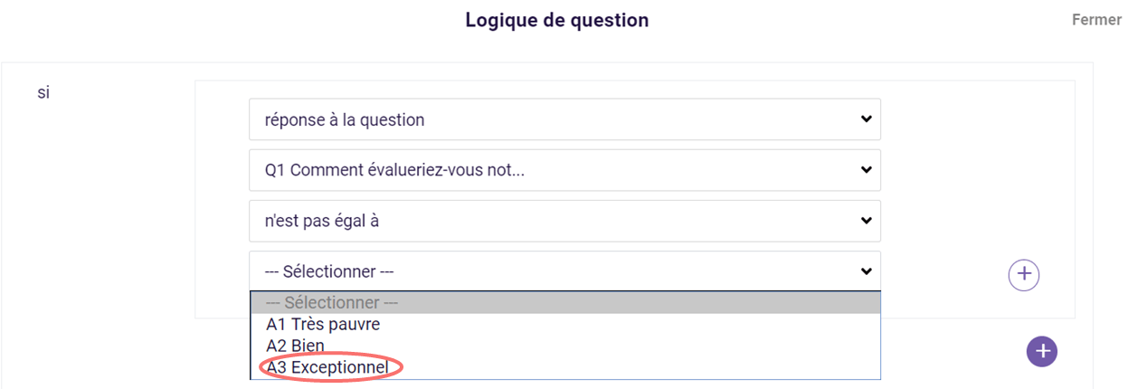 Logique de question - réponse a la question
