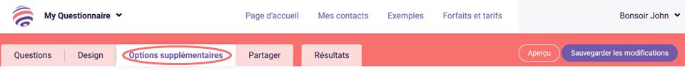 Modele d'e-mail - options supplémentaires