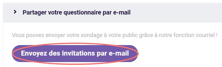 Bouton - envoyez des invitations par e-mail