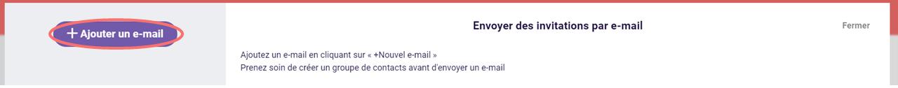 Ajouter un e-mail