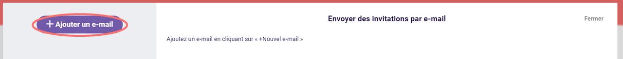 Ajouter un e-mail - campagne