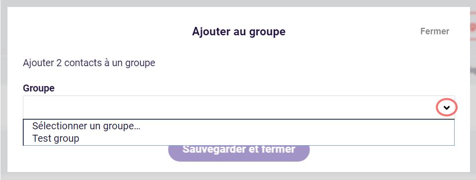 Ajouter des contacts au groupe