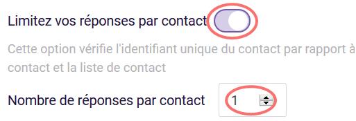 Limiter par contact