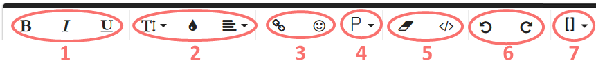 WYSIWYG icônes de l'éditeur de texte enrichi