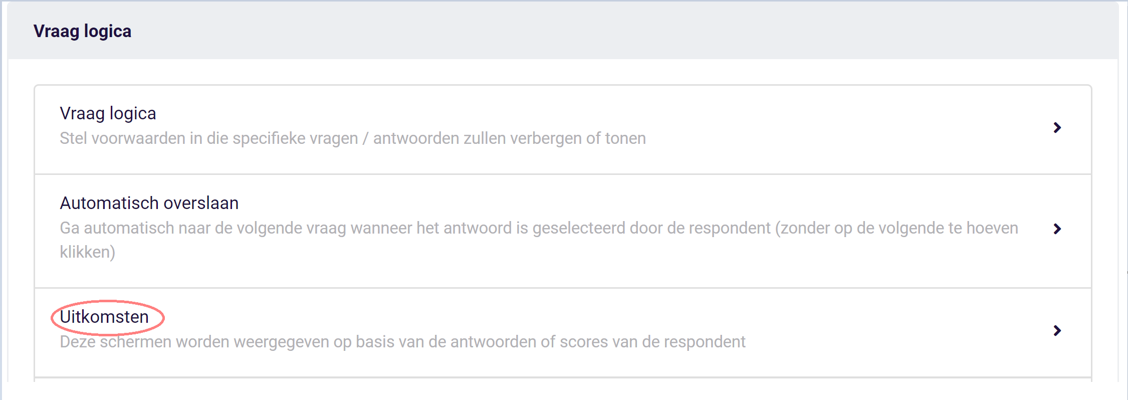 Assessment - uitkomsten