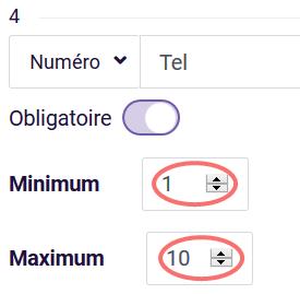 Validation personalisée - exemple avec numéro