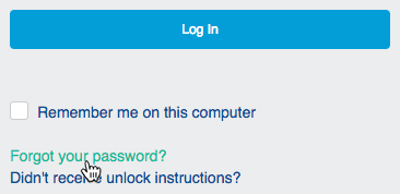"""Forgot your password?"" link"