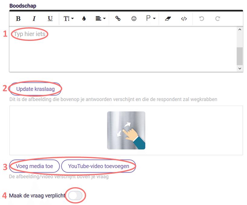 Bewerk het bericht - kraslot