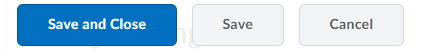 Save and Close, Save, and Cancel buttons