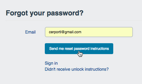 """Forgot your password?"" dialog"