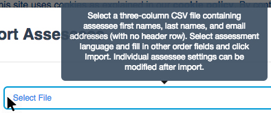 Message about required structure of CSV file