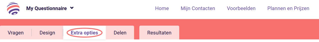 Randomiseer - extra opties