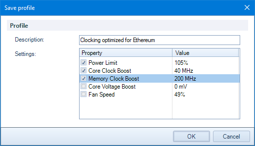 GPU overclocking : Awesome Miner