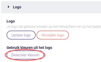 Design - detecteer kleuren logo