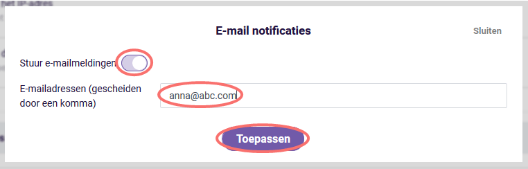 Email notificaties - stuur emailmeldingen