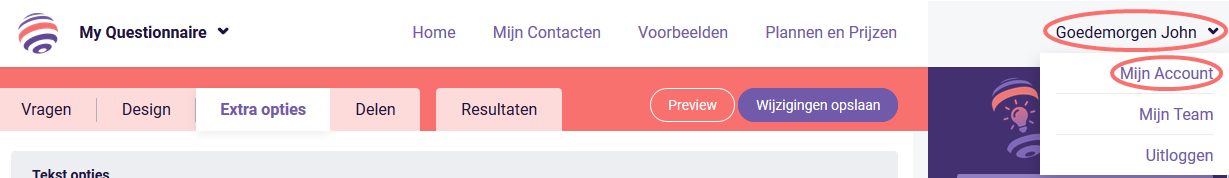 Zapier - Mijn account