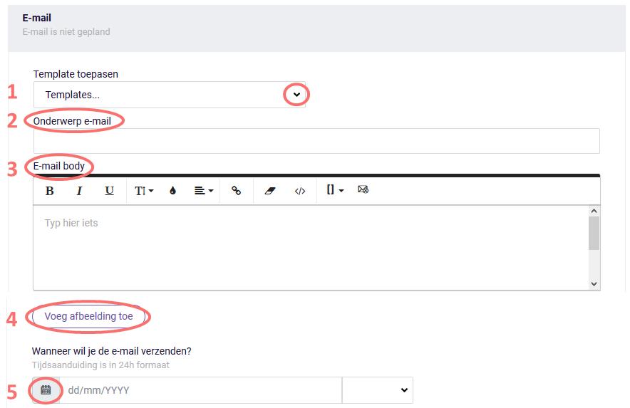 Schrijf de e-mailuitnodiging