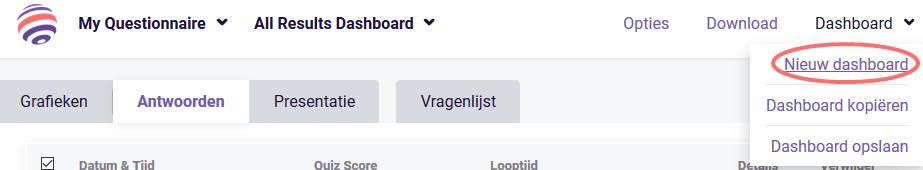 Kaart widget - nieuw dashboard
