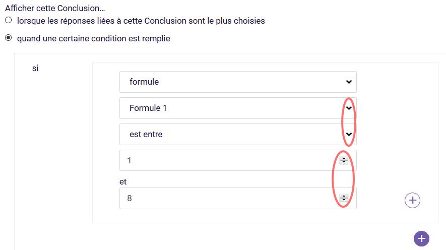 Formule - conclusions