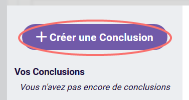Creer une Conclusion