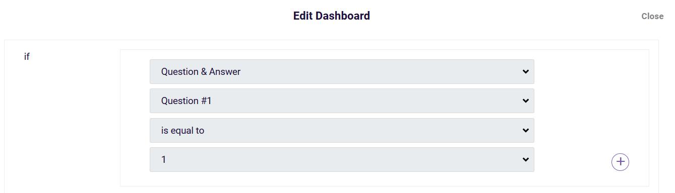 Dashboard - deel - filtre