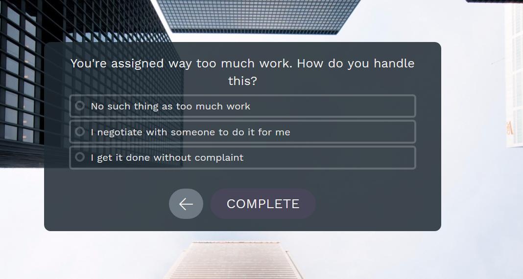 Evaluation - choix de texte