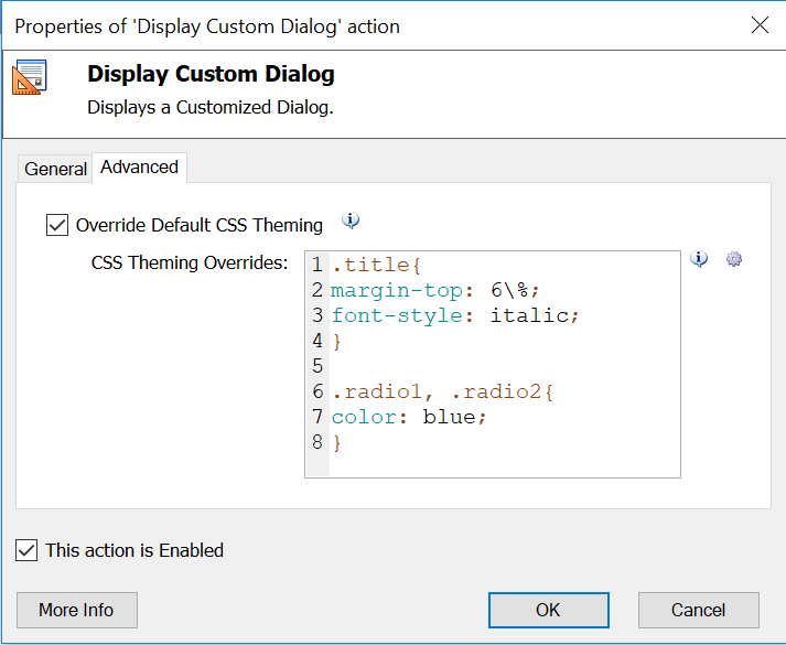 How to implement CSS themes to your Custom Dialog | Softomotive