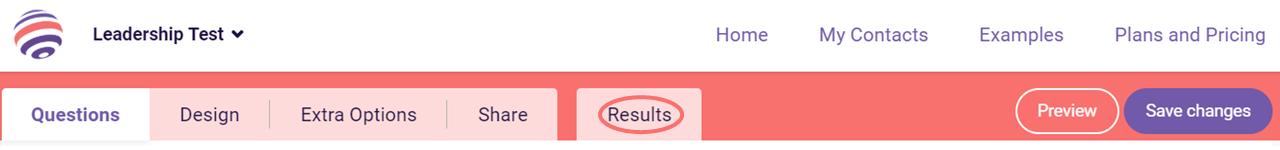 charts view responses tab