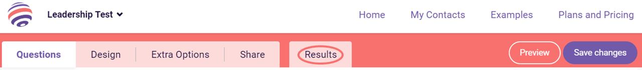 Results tab - PDF generator