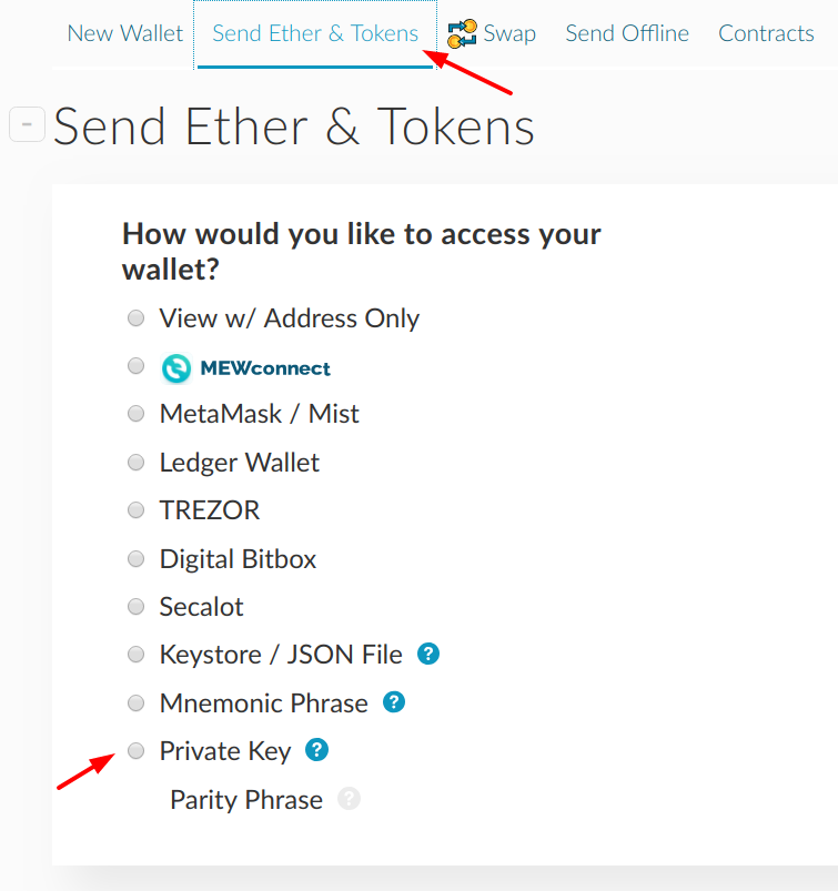 Using your private key for Ethereum/Erc20 : Ethos