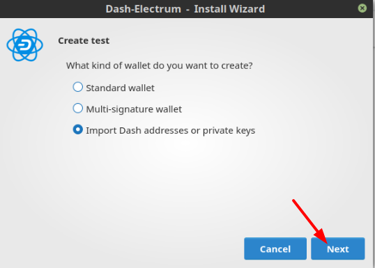 Using your Private Key for Dash : Ethos