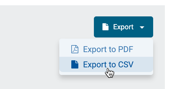 "Select ""Export to CSV"""