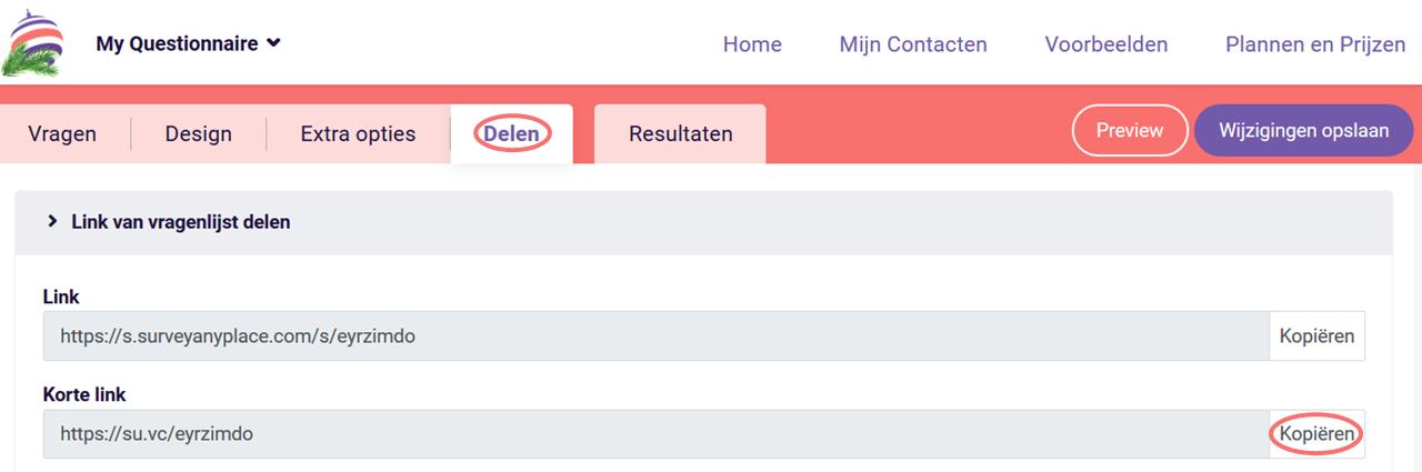 URL parameters - korte link
