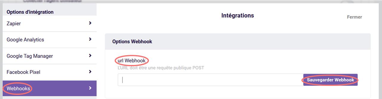 URL Webhook